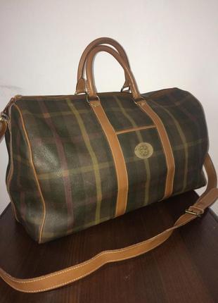 Maurizio baldassari большая дорожная сумка канвас и натуральная кожа