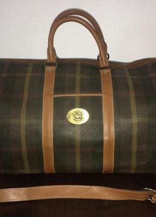 Maurizio baldassari большая дорожная сумка канвас и натуральная кожа2 фото