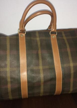 Maurizio baldassari большая дорожная сумка канвас и натуральная кожа6 фото