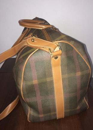 Maurizio baldassari большая дорожная сумка канвас и натуральная кожа3 фото