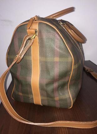 Maurizio baldassari большая дорожная сумка канвас и натуральная кожа5 фото