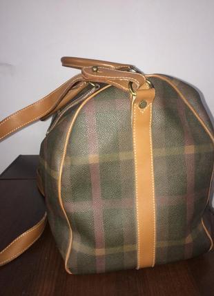 Maurizio baldassari большая дорожная сумка канвас и натуральная кожа4 фото