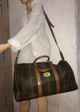 Maurizio baldassari большая дорожная сумка канвас и натуральная кожа8 фото