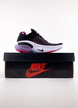 Новые женские спортивные кроссовки nike joyride flyknit black pink.  легкие демисезонные найк