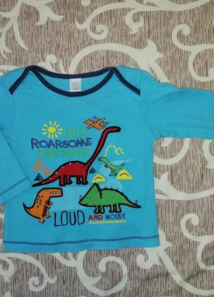 Реглан кофта кофточка с динозаврами