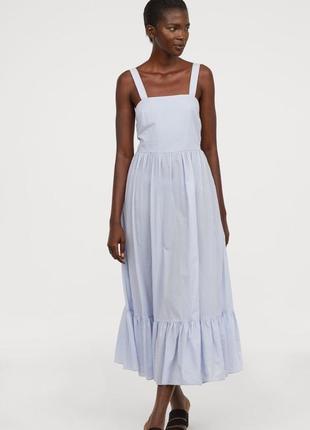 Красивое хлопковое платье макси h&m