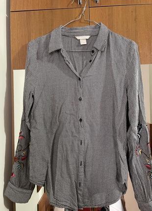 Рубашка от h&m с вышивкой