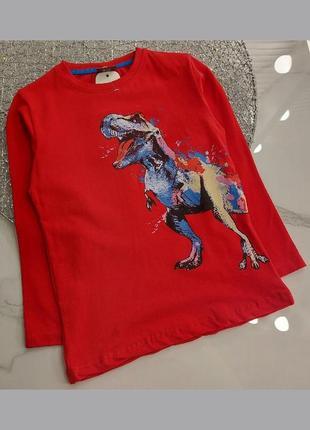 Реглан червоний з динозавром від 4 до 8 років