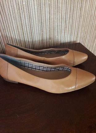 Кожаные туфли -лодочки marc o polo