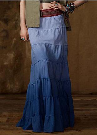 Коттоновая юбка в пол