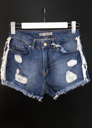 Женские джинсовые шорты короткие шорты женские рваные с потрепанностью