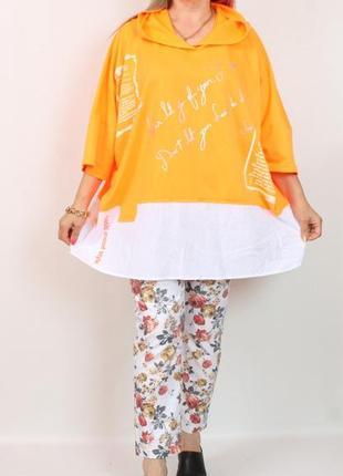Женская туника футболка турция туреччина большого великого розміру футболка блуза кофточка майка блузка darkwin 50 52 54 56 58 60 62 64