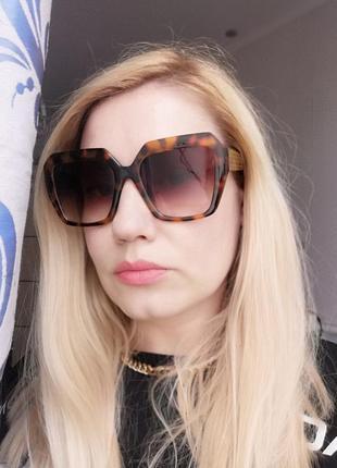 Эксклюзивные брендовые солнцезащитные женские очки в черепаховой оправе 2021