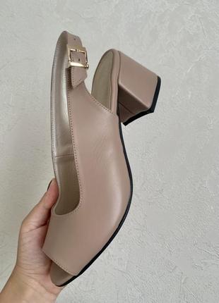 Босоножки женские классические на 27 см натуральная кожа каблук