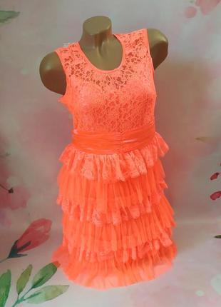 Яркое неоновое летнее платье