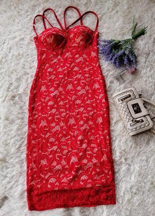 Стильне плаття міді 12р