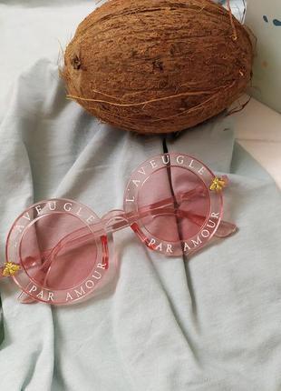 Розовые круглые солнцезащитные очки, летняя распродажа