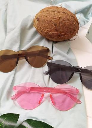 Модные солнцезащитные очки без оправы, летняя распродажа
