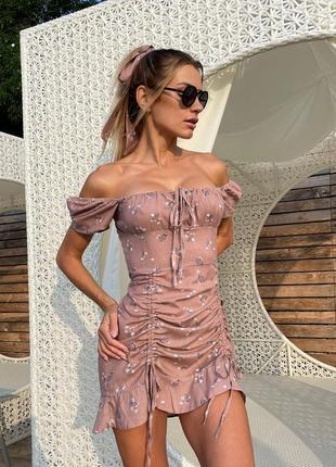 Короткое платье с повязкой