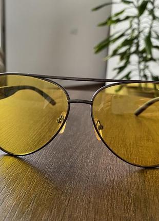 Очки aviator желтые стёкла