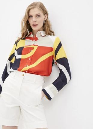 Роскошная рубаха оригинал брендовая рубашка блуза