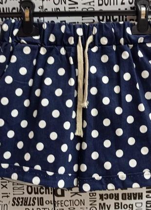 Трикотажные шорты женские с принтом в горошек корткие женские шорты для подростков