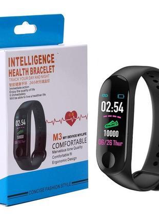 Фитнес браслет intelligence health bracelet m3  (примята или немного с дефектом коробка)