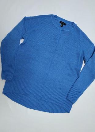 Однотонный синий акриловый свитер / от фирмы new look