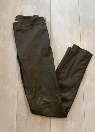 Кожаные брюки лосины emilio pucci