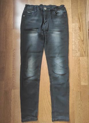Чорні джинси з потертостями, 28-29 р., джинсы