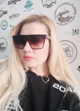 Эксклюзивные брендовые солнцезащитные очки маска унисекс 20217 фото
