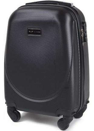 Чемодан дорожный (дорожная сумка) пластиковый на 4 колёсах мини 310 xs wings ( черный / black )