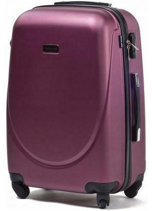 Чемодан дорожный (дорожная сумка) пластиковый на 4 колёсах мини 310 xs wings ( бордовый / burgundy )