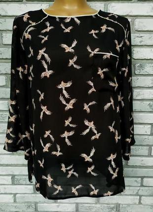 Красивая блуза в ласточки размер l-xl