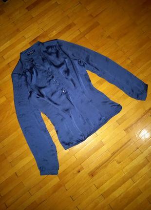 Блузка bien bleu синя сорочка рубашка кофта