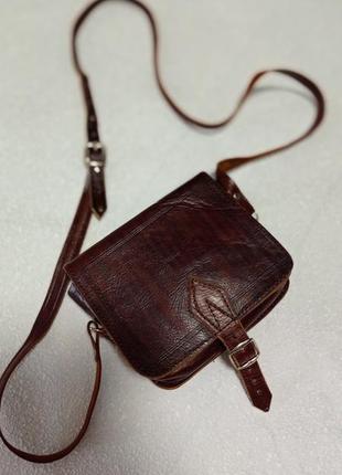 Маленькая сумочка кросс-боди кожа