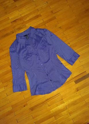 Блузка h&m фіолетова в полоску сорочка рубашка кофта лонгслів