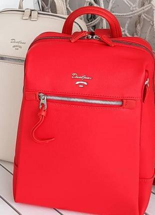 Красный/пудровый рюкзак david jones