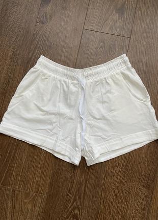 Шорты спортивные короткие трикотажные летние, шорти спортивні трикотажні білі, шорты белые на лето,