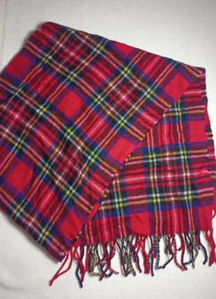 Клетчатый шарф . шотландский шарф . кашемир