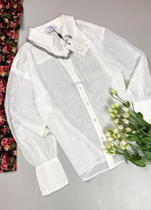 Шифоновая легкая блуза з v-образным вырезом декольте  na-kd