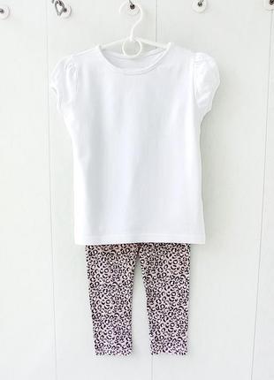 """Комплект """"леопард. принт"""": футболка + лосины  ( костюм / набор / пижама)"""