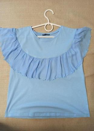 Голубая футболка zara красивая футболка зара