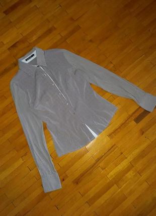 Блузка extra me сіра в полоску сорочка рубашка кофта лонгслів