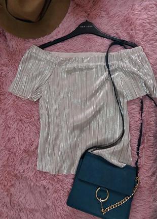 Стильная плисированая блуза от new look