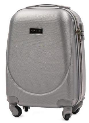 Чемодан дорожный (дорожная сумка) пластиковый на 4 колёсах мини 310 xs wings (серебристый/silver)