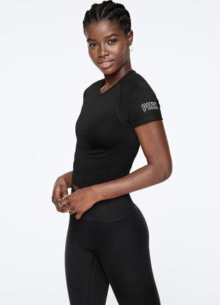 Черная женская футболка victoria's secret, оригинал!