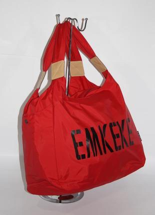 Спортивная, дорожная, пляжная сумка emkeke 915 красная, расцветки