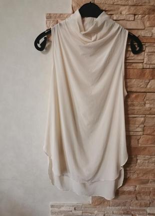 Нюдовая шелковая блузка, майка by malene birger