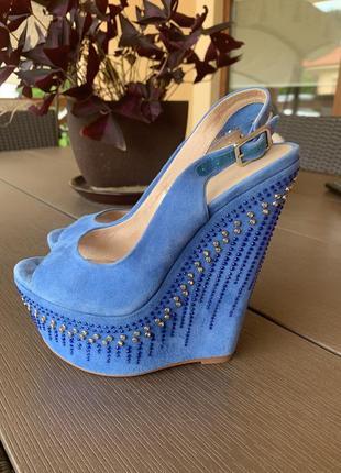 Босоножки сандали натуральная замша